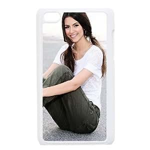 Brunette Smile Style Shoes Pants Hair 44156 funda iPod Touch 4 caja funda del teléfono celular blanco cubierta de la caja funda EEECBCAAJ01270