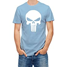 T shirt Punisher Skull Blue Sky XL