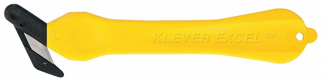 Safety Cutter, Disposable, 7in, Yellow, PK10