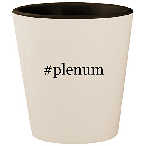 Price comparison product image #plenum - Hashtag White Outer & Black Inner Ceramic 1.5oz Shot Glass