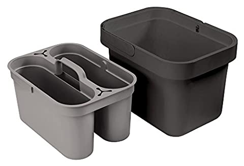 Joseph Joseph Clean and Store Cleaning Bucket with Removable Storage Caddy, Grey