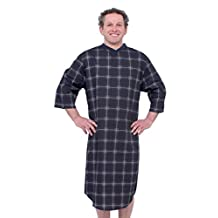 Mens Adaptive Hospital Patient Nightgowns - Open Back Cotton