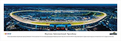 Daytona International Speedway at Night - Blakeway Panoramas Unframed NASCAR (Speedway Nascar Picture)