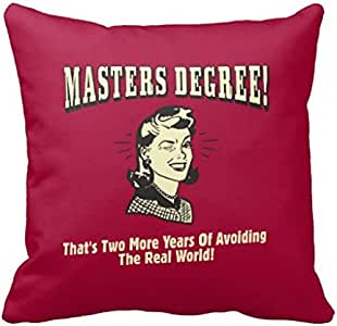 Masters Degree AVOI Ding The Real World Pillow Case