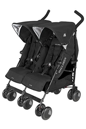 Amazon.com : Maclaren Twin Techno Stroller, Black : Tandem ...