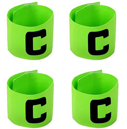 MAYFOO Football Soccer Captains Armband - Adjustable Elastic Captain Arm Bands Wristband for Youth and Adult,Kids - Captains Armband Adjustable