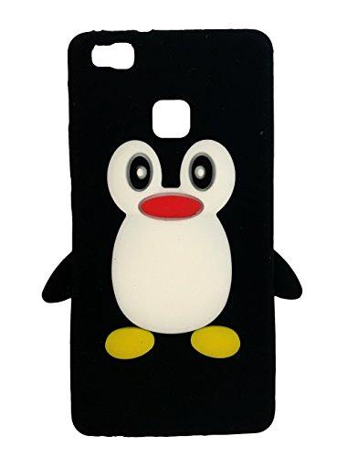 SKS Distribution® negro silicona pingüino FUNDA / CARCASA / COVER para Huawei P9 lite