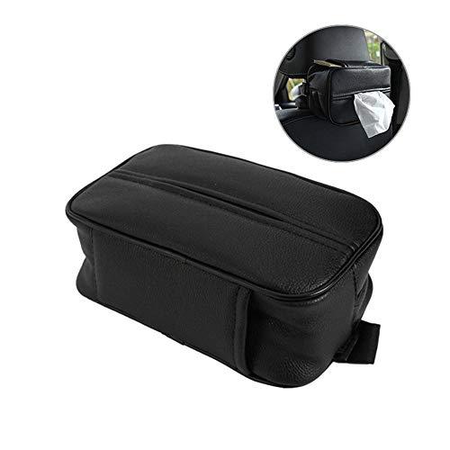 - AOLVO Car Tissue Box,Leather Tissue Box,Hanging Tissue Paper Holder,Car Tissue Case - Back Seat Headrest Hanging Napkin Clip(Black)