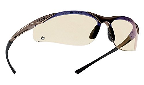 Bollé Safety 253-CT-40047 Contour Safety Eyewear with Semi-Rimless Nylon Frame and ESP Tinted Anti-Fog Lens by Bolle