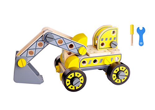 Toysy Toys DIY Forklift & Excavator Wooden Educational Toy by Tooky Toy