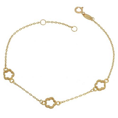 Bracelet Station Flower (10k Yellow Gold Flower Station Bracelet (fits 7