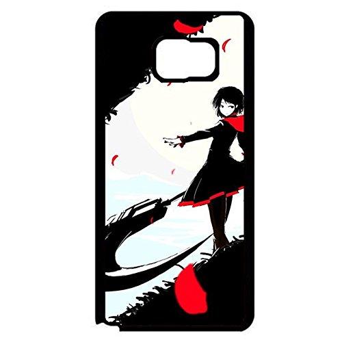 Samsung Galaxy Note 5 Phone Case RWBY Black Theme Red Girl Unique Design Cover