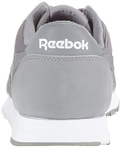 Nylon Zapatillas Reebok White Tech Steel Mix Gris Para Classic grey Hombre awqH4qZ