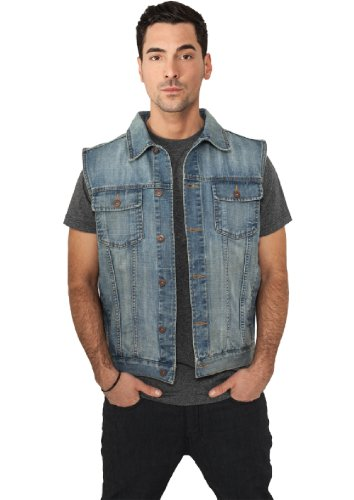 URBAN CLASSICS - DENIM VEST - LIGHT BLUE