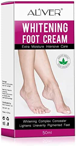Foot Cream, Feet Skin Whitening Cream, Foot Repair Moisturizer, Foot Callus Remover Moisturizes and Rehydrates Feet - Whitening Complex Concealer Lightens Unevenly Pigmented (foot cream)