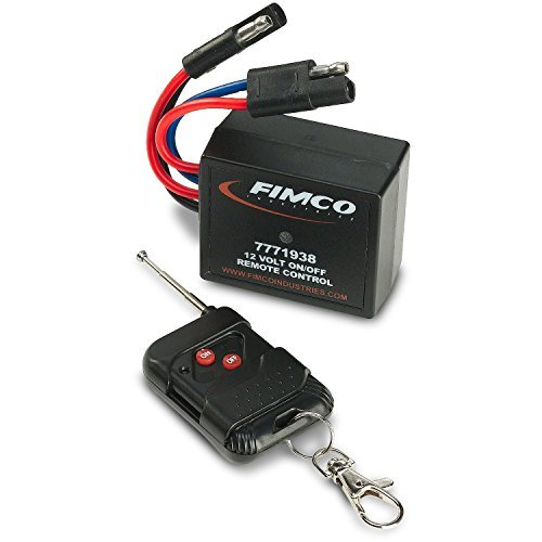 Fimco 7771938 12 Volt On/Off Wireless Remote Control 250 Feet Range Quick Connect to Fimco 5275086, 5275087 or All 12 Volt Sprayer Pumps Up To 20 Amps, Convenient Keychain Clip and Collapsable Antenna ()