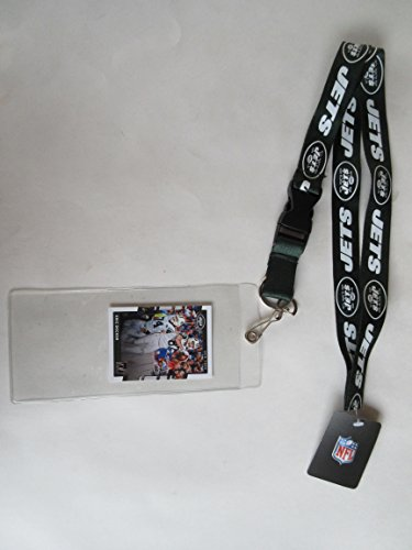 NEW YORK JETS LANYARD WITH DETACHABLE CLIP AND TICKET HOLDER PLUS COLLECTIBLE PLAYER CARD (New York Mets Lanyard)