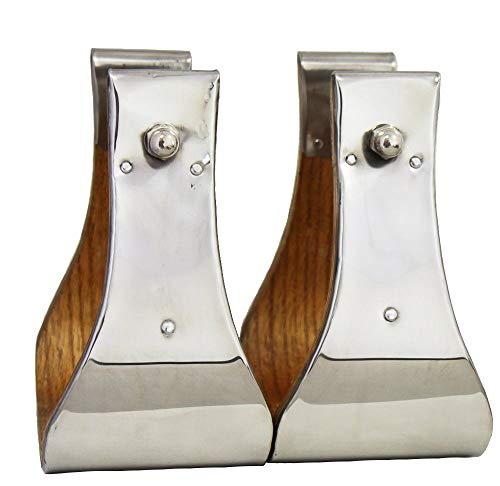 AJ Tack Wholesale Monel Wooden Bell Stirrups 4
