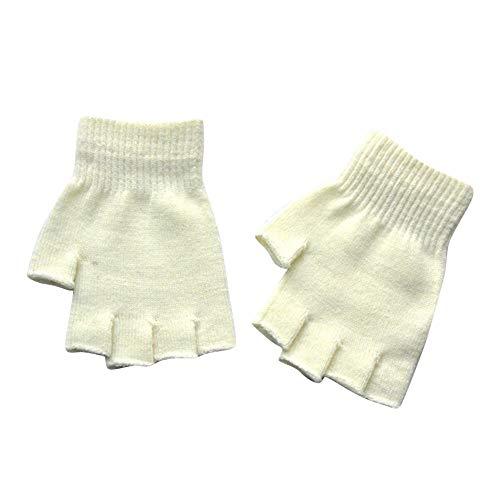 XBKPLO Women Winter Warm Knit Fingerless Gloves Hand Crochet Thumbhole Arm Warmers Mittens Unisexe Gants Mitaines Sans Doigts Tricoté Crochet Demi-Doigts Adulte Chaude Hiver Doux Cadeau