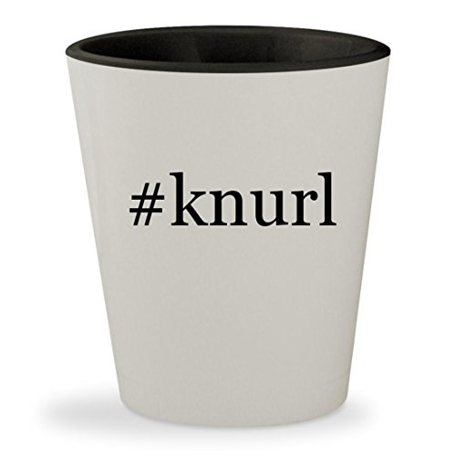 Price comparison product image #knurl - Hashtag White Outer & Black Inner Ceramic 1.5oz Shot Glass
