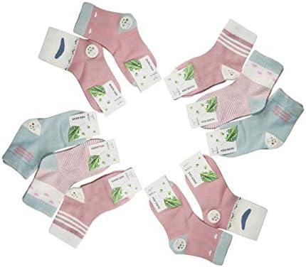 Yifen Girls Neuheit Cotton Rich Crew Socken Schulsocken für 1-7 Jahre Kinder 10 Paare