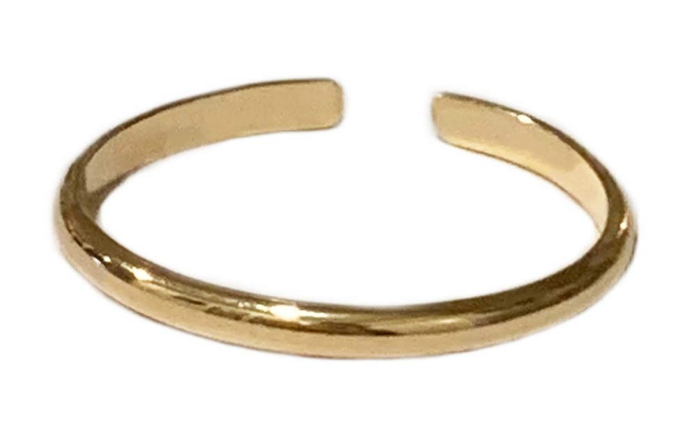 TOE RINGS & THINGS   1mm Half Round 14k Gold Fill   Adjustable Ring for Foot or Knuckle for Women Men or Teens   Fit a Variety of Sizes
