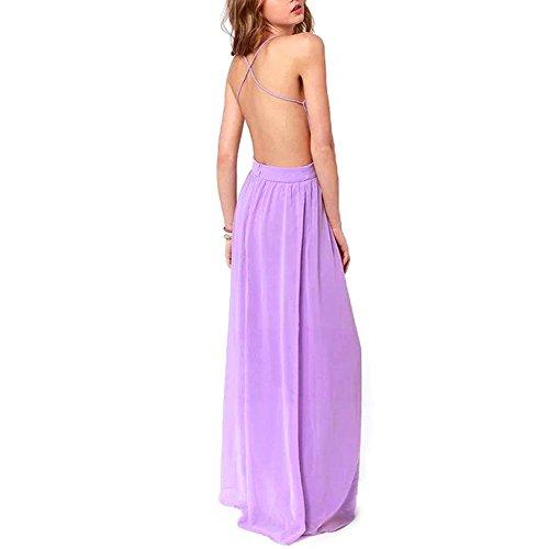 Strandkleid 2014 Sommerkleid lang K9D Damen Boho Ärmellos qtBqv6