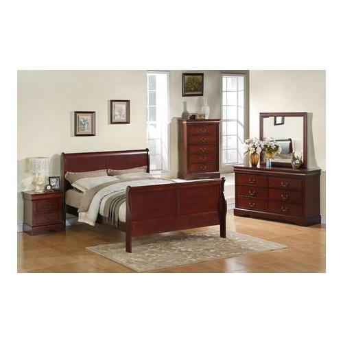 Standard Furniture 80400-Q Lewiston Complete Queen-Size Bedroom Set in Deep