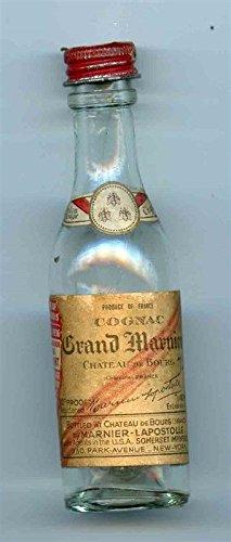 Grand Marnier Cognac - Grand Marnier Cognac Glass Mini Bottle 1936 Illinois Tax Stamp Chateau de Bourg