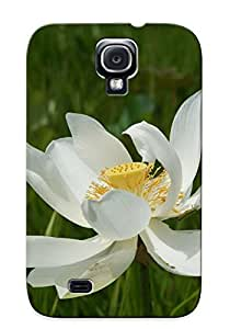 lintao diy Acffgy-6331-mjnwoyb Tough Galaxy S4 Case Cover/ Case For Galaxy S4(white Lotus Flower ) / New Year's Day's Gift