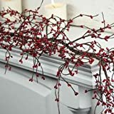 Factory Direct Craft Red Pip Berry Garland for Christmas and Everyday Decorating