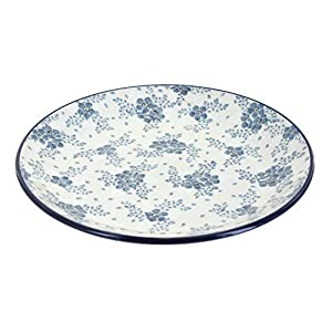 Blue Rose Polish Pottery Blue Fleur Dinner Plate