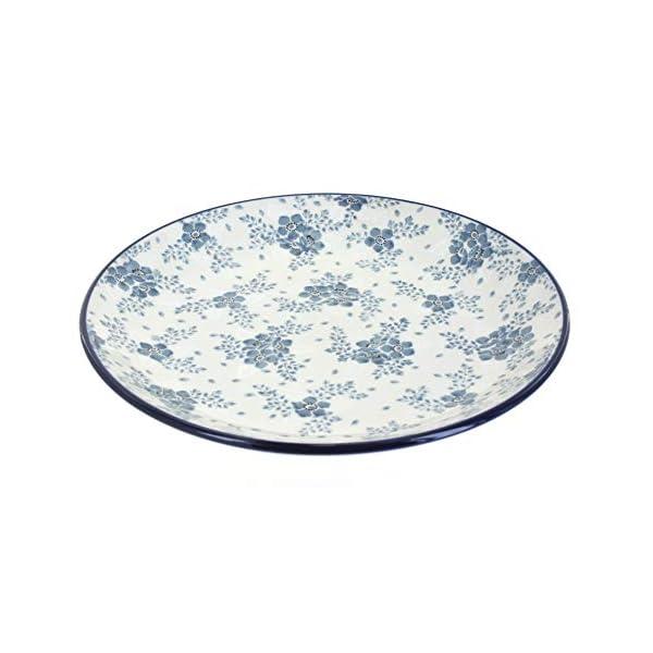 Blue Rose Polish Pottery Blue Fleur Dinner Plate