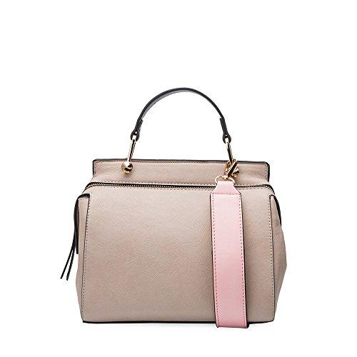Crossbody Bone Melie Noelle Vintage Noelle Leather Handbag Vegan Bianco Inspired O164Hzxpq