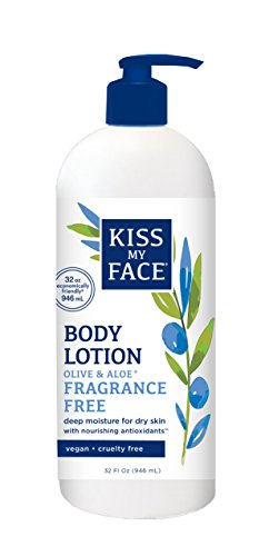 Kiss My Face Olive & Aloe Fragrance Free Body Lotion, 32 Ounce