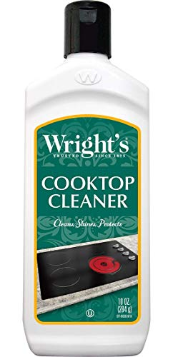 - Wright's Cooktop Cleaner - Cleans and Protects Glass/Ceramic Smooth Top Ranges with its gentle formula - 10 Oz.