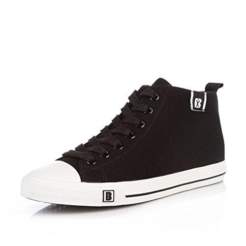 Caída de lona zapatos de las mujeres/Fresca pura respirable Hi el zapato/Zapatos del estudiante transpirable color caramelo F