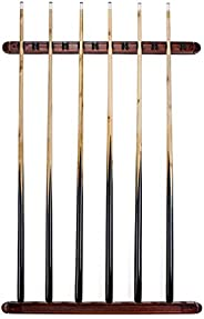 Felson Billiard Supply 12 Cue Wall Mounted Billiard Stick Rack with Wooden Finish by Felson Billiard Supplies