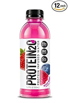 Protein2o Low-Calorie Protein Infused Water, 15g Whey Protein Isolate, Mixed Berry 16.9 Ounce, Pack of 27 Mixed Berry 27 Pack