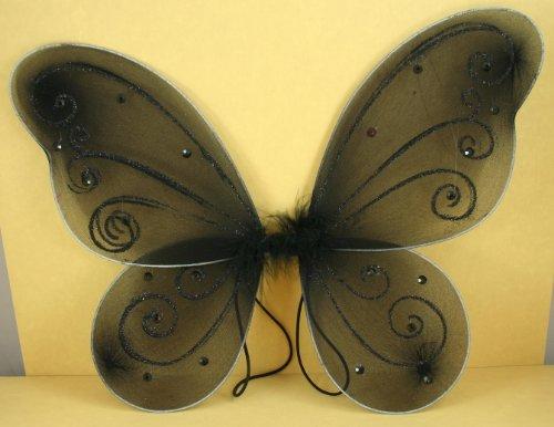 Black Butterfly Fairy Costume Wings
