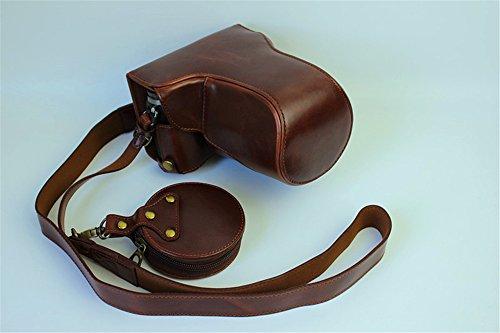 GX85 Case, BolinUS Handmade PU Leather FullBody Camera Case