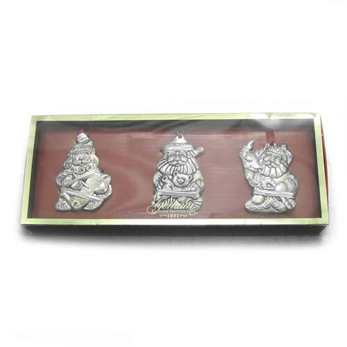 1980 Silverplate Ornament by Gorham, Santa's, Set of -