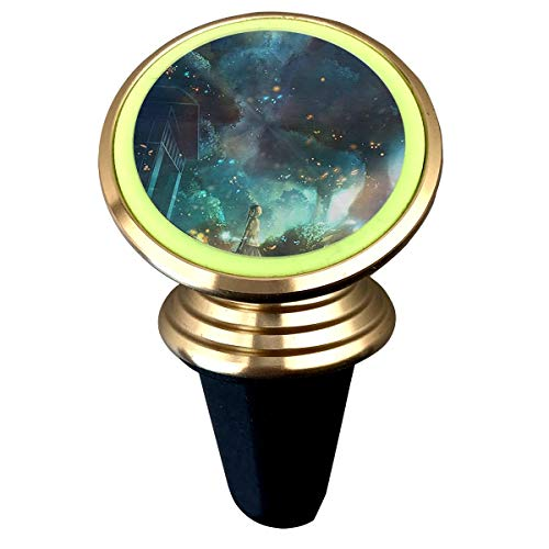Happy Index Fireflies and Girls 360° Rotation Air Vent Magnetic Car Mount Cell Phone Holder Compatible for iPhone Xs/Xs Max/XR/X / 8/7 / Plus Samsung Galaxy S9 / S8 and More