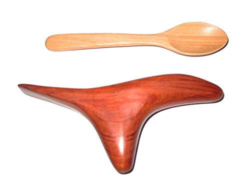 Thai-Traditional-Reflexology-Hand-Foot-Massage-Tool-Wing-Shape-Massager-Press-Point-Red-Wood-Free-One-Spoon-Wooden-Size-7