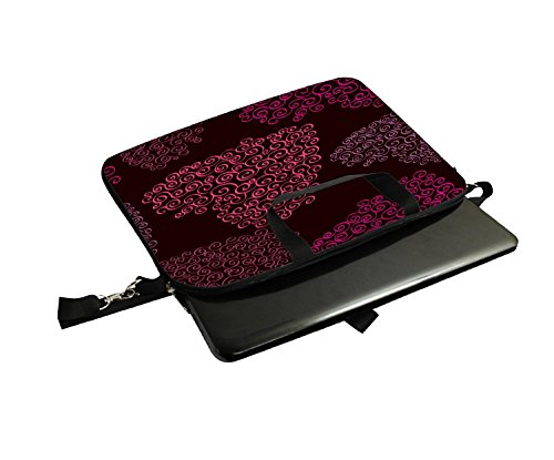 Snoogg Rosa Herz Laptop Netbook Computer Tablet PC Schulter Case mit Sleeve Tasche Halter für Apple iPad/HP TouchPad Mini 210/Acer Aspire One und die meisten 24,6cm 25,4cm 25,7cm 25,9cm Zoll Netbo