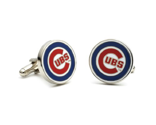 MLB Chicago Cubs Cufflinks - Cubs Chicago Silver Cufflinks