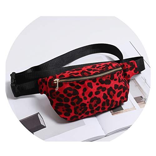 Women Bag Canvas Fanny Pack Leopard Print Chest Bag Women Belt Bags Casual Travel Phone Pouch Waist Pack (Kathy Belt Van Zeeland)