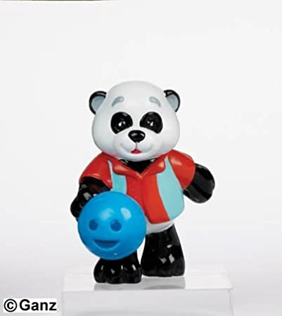 "KinzPinz Panda With Secret Online Code By Ganz Bowling Webkinz 3"" Figurine"
