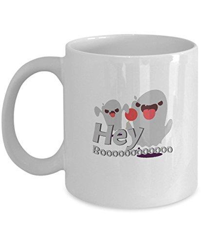 Hey Boo Funny Halloween Gif Mug