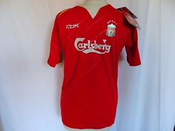 quality design a2800 ae850 Reebok 2005-2006 Liverpool FC Home Champions League Shirt ...